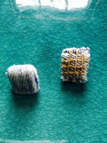 Denim Rhombus Earrings