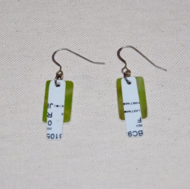 Upcycled Credit Card Earrings