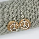 Upcycled Cork Peace Sign Earrings