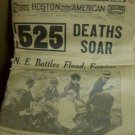 1938 HURRICANE Boston Evening American  525 DEATHS