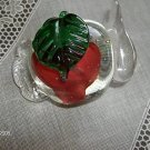 RED ROSE PAPERWEIGHT ORNAMENTAL  TEA POT SHAPE
