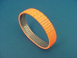 stainless steel expansion bracelet in shiny orange color 738
