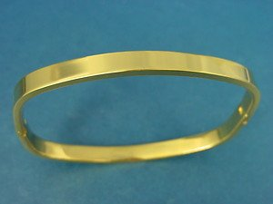 s.steel square bangle in long lasting IP gold plating 408