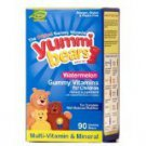 Yummi Bears Organics by Hero Vitamins & Minerals 90 gummy bears WATERMELON NIB