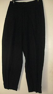 East Wind Code VivienneTam Charcoal Gray/Black Dressy Casual Pants Sz 2
