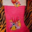 NEW Disney Princesses Christmas Pink and White Stocking, NEW WITH TAG