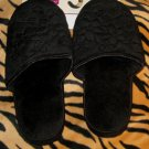 LADIES COMFORT SLIPPERS BY BOBBIE BROOKS, BLACK, SZ LARGE 9-10 NEW WITH TAGS!