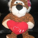 "STUFFED LARGE TIGER HOLDING HEART SAYS ""I LOVE YOU"" BRAND NEW WITH TAG!"