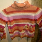 NWT Girl's Sz 8 Gymboree Embellished Striped Turtle Neck Long Sleeve NWT