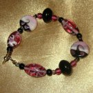 """HAND-CRAFTED LAMPWORK BEADED BRACELET, 8 1/2 """" TOGGLE CLASP"""
