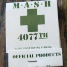 "VINTAGE MATCHBOOK FROM ""M.A.S.H"" 1960'S. UNUSED.  MINT!"