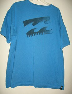 MEN'S 100 PERCENT ORGANIC COTTON T-SHIRT BY BILLABONG, SIZE XX LARGE, OCEAN BLUE
