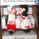 ADORABLE SALT & PEPPER SHAKERS, KISSING COUPLE NEW IN BOX!