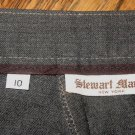LADIES DRESS PANTS BY STEWART MANOR OF NEW YORK, CHARCOAL, SIZE 10