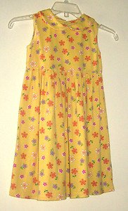 Girl's Dress by Speechless - Yellow with Multi-Colored Flowers - SZ 6X  ADORABLE