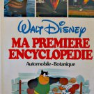 "WALT DISNEY CHILDREN'S BOOK ""MA PREMIERE ENCYCLOPEDIE AUTOMOBILE VOL 3""  FRENCH"