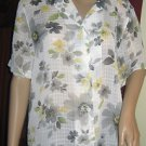 LADIES ~ALFRED DUNNER~ FLORAL SHORT SLEEVE BUTTON BLOUSE ~ SIZE 14