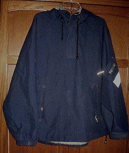 Size L Nike Men's Half Zip Hooded Jacket Velcro Cuffs, Pocket on Sleeve