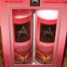APRIL BATH & SHOWER 2 PACK BODY SET POMEGRANATE