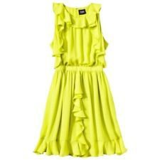 Prabal Gurung for Target 10 NWOT Sulfur green ruffle dress NEW