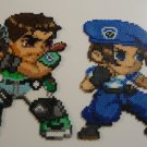 Resident Evil Chris Redfield and Jill Valentine Perler Bead Art Set
