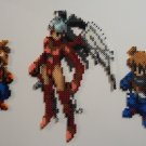Final Fantasy Tactics Altima Ramza and Cloud Bead Sprite Set Perler Bead Art