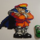 M. Bison Street Fighter Sprite Perler Beads Art