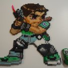 Chris Redfield Resident Evil Sprite Perler Beads Art