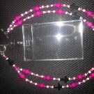Pink w/ Black Cross Lanyard