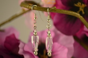 Evelyn- Clear Long Angled Cubed Earring Dangles