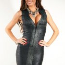 Club Party Metallic Black Bandage Dress