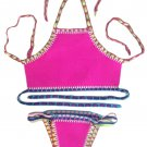 Rosy Handmade Crochet Neoprene Tankini Swimsuit