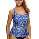 Holiday Waves Cutout Racerback Tankini Top