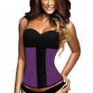 Purple 9 Steel Bones Latex Under Bust Corset