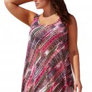 Reddish Boho Style Sheer Chiffon Beach Dress