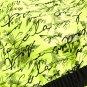 Yellow Individual Handwriting Print Swim Shorts