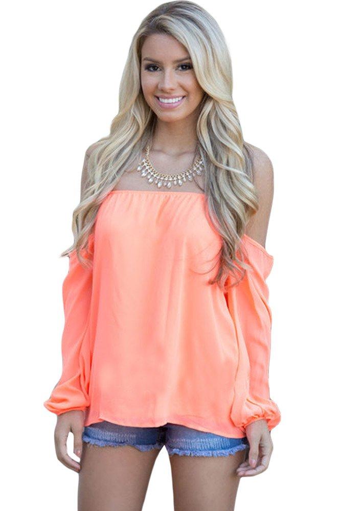 Orange Off The Shoulder Blouse