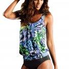 Live Beach Ethnic Print 2pcs Tankini Swimsuit
