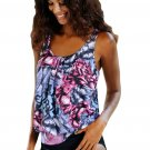 Wild Beach Ethnic Print 2pcs Tankini Swimsuit