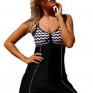 Zigzag Bandeau Top Swimdress One Piece