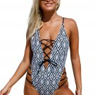Show Your Geometric One Piece Swimsuit