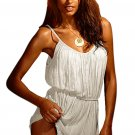 White Vintage Crinkled Beach Sundress
