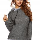 Heather Charcoal Double Hooded Sweatshirt
