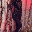 Black Velvet Lace Long Sleeve High Neck Bodysuit