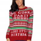 Red WE GONNA PARTY Ugly Christmas Sweater