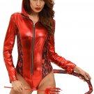 Red Hot Devilish Hooded Romper Costume