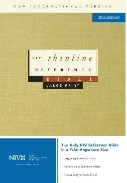NIV Large Print Thinline reference Bible - Navy