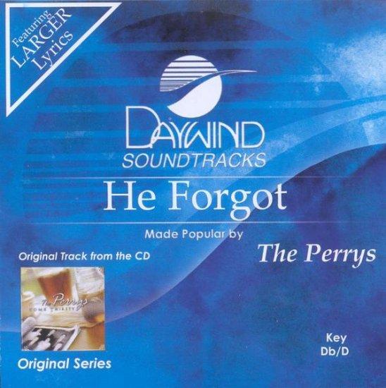 He Forgot, Accompaniment CD