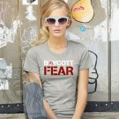 Boycott Fear Women's Basic Crew, Heather Gray (S-XL)