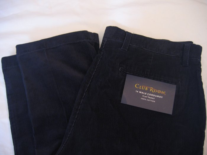 NWT Men's Club Room Corduroy Pants Sz 34x32